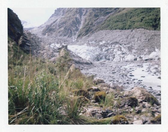 Polaroid of Fox Glacier
