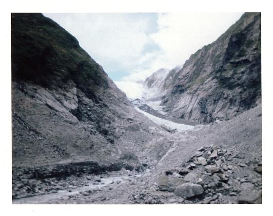 Polaroid of Franz Joseph Glacier