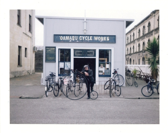 Polaroid of Oamaru Cycle Works