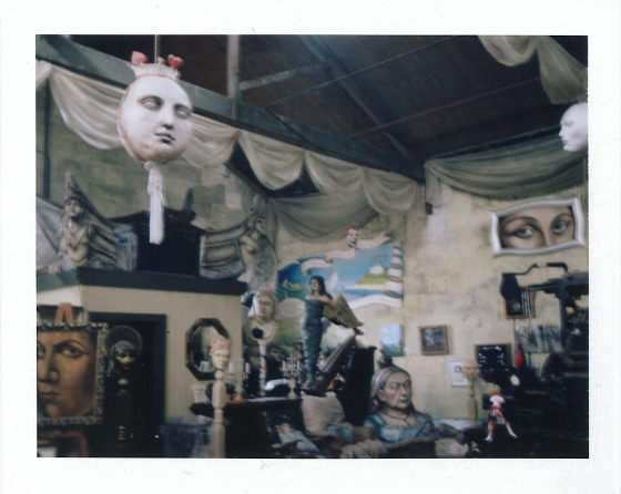 Polaroid of The Grainstore Gallery, Oamaru, New Zealand