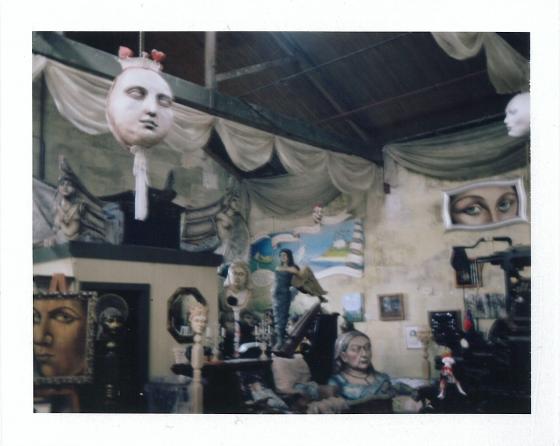 Polaroid of The Grainstore Gallery, Oamaru, New Zealand