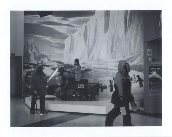 Polaroid of The Antarctic Cenre