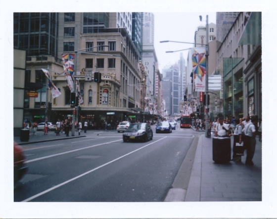Polaroid of downtown Sydney