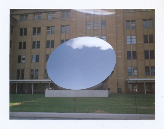 Polaroid of Anish Kapoor's Sky Mirror outside the Museum of Contemporary Art, Sydney
