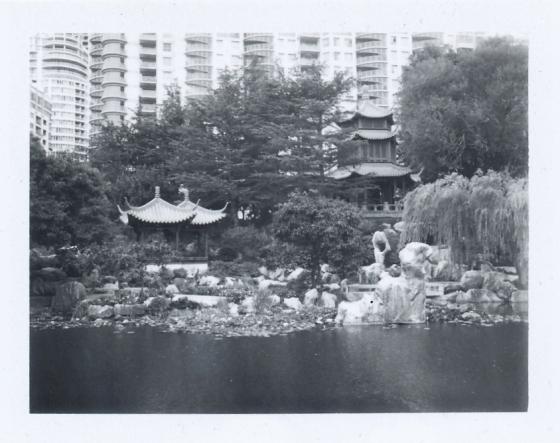 Polaroid of Chinese Garden, Sydney
