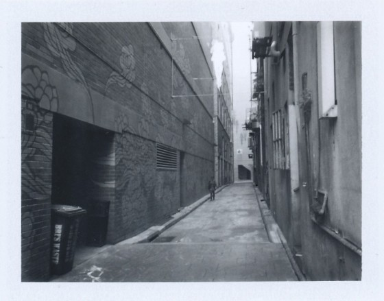 Polaroid of Kimber Lane alley art, Sydney
