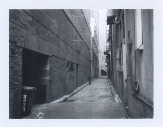 Polaroid of Kimber Lane alley art, Sydney