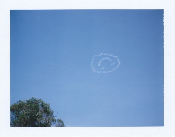 Polaroif of the summer skies in the Sydney neighborhood of Glebe