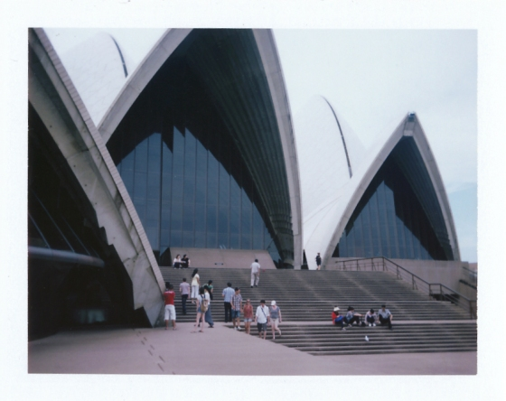 Polaroid of the Sydney Opera House