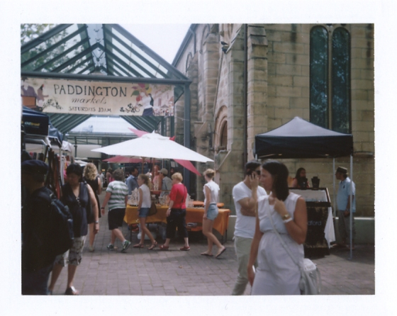 Polaroid of Paddington Market: Sydney, Australia