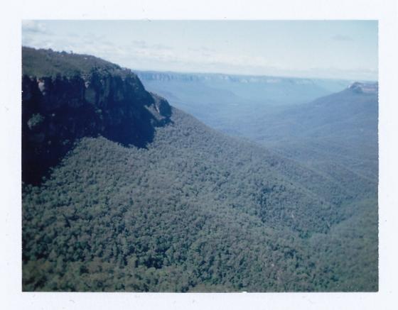 Polaroid of the Blue Mountains, Australia
