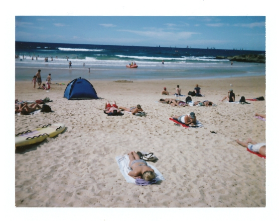 Polaroid of Manly Beach, Sydney Australia