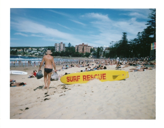 Polaroid of Manly Beach, Sydney Australia
