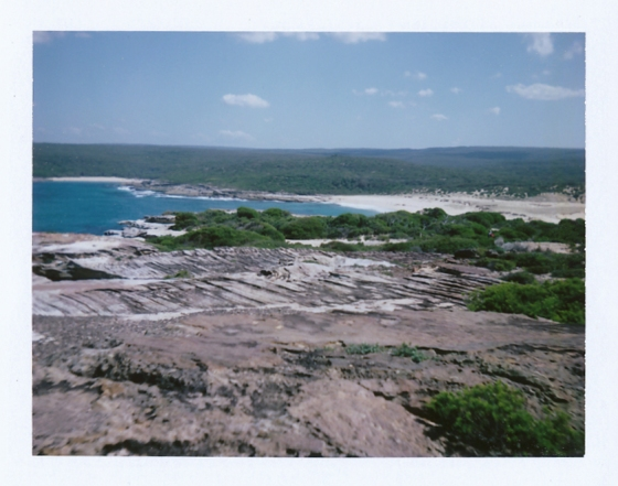 Polaroid of the Royal National Park, Australia: Overlooking Marley Beach
