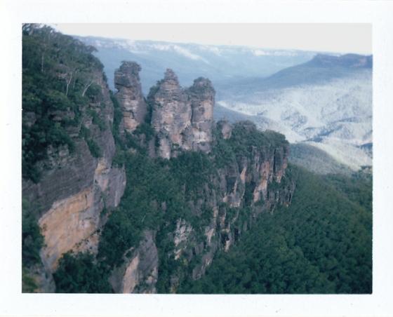 Polaroid of the Three Sisters: Blue Mountains, Australia