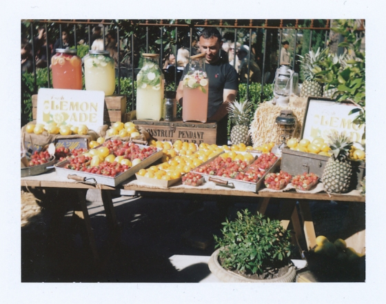 Polaroid of a lemonade stand at The Grounds of Alexandria: Sydney, Australia