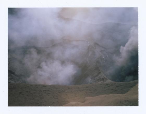 Polaroid of Mt Yasur: Tanna, Vanuatu