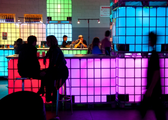 Vivid Terminal Bar at the Vivid light festival: Sydney, Australia