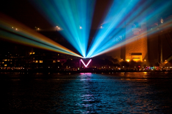 The projection for the Opera House during the Vivid light festival: Sydney, Australia