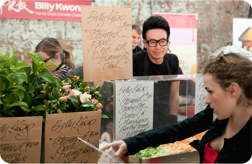 Billy Kwong food cart at the Eveleigh Markets: Sydney, Australia