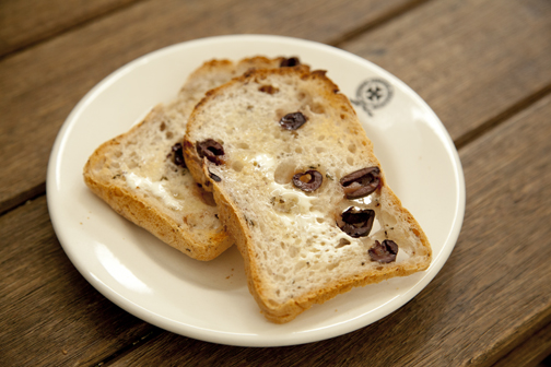 Gluten-free olive rosemary bread at Little George Street: Melbourne, Australia