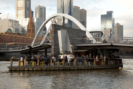 Pedestrian bridge over the Yarra River: Melbourne, Australia
