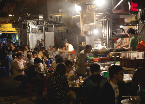 Dai pai dong food stall in SoHo, Hong Kong