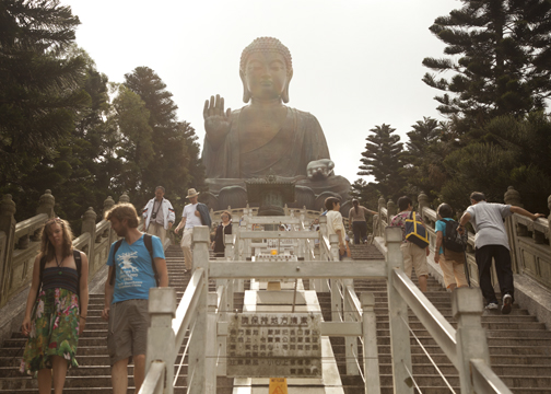 Giant Buddha at the Po Lin Monastery on Lantau Island, Hong Kong
