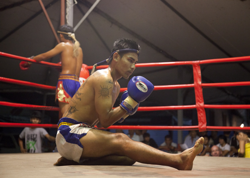 A Muay Thai Fight at the Kalare Boxing Stadium: Chiang Mai, Thailand