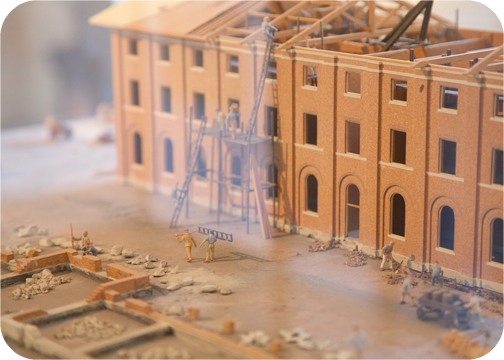 A model of the construction of the Hyde Park Barracks: Sydney, Australia