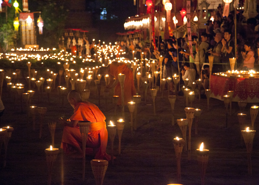 Wat Phan Tao - Yee Peng Ceremony: Chiang Mai, Thailand