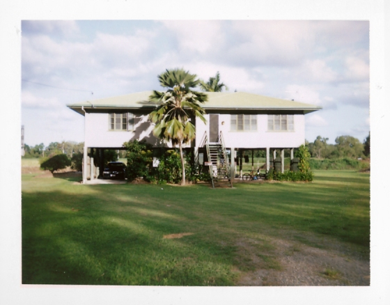 Polaroid of a typical raised house: Queensland, Australia