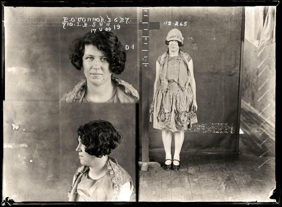 Eileen May O'Connor, criminal record number 710LB, 3 June 1927. State Reformatory for Women, Long Bay, NSW