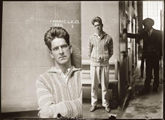 Mug shot of Frank Murray alias Harry Williams, 4 February 1929, Central Police Station, Sydney.