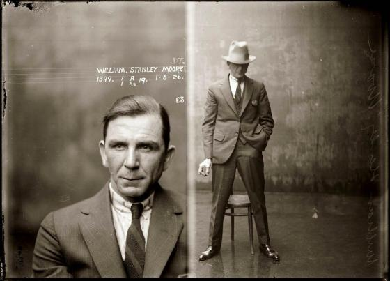 Mug shot of William Stanley Moore, 1 May 1925, Central Police Station, Sydney.