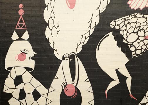 Street art in downtown Newcastle