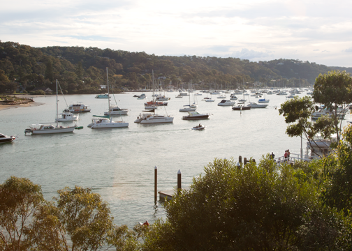 View from the patio of the Newport Arms Hotel: Pittwater, Australia