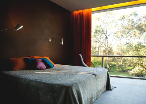 Master bedroom inside the Rose Seidler House: Wahroonga, Australia