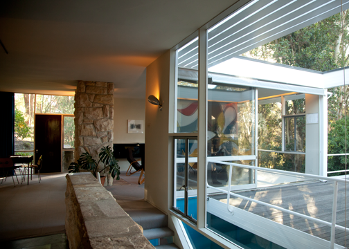 Interior of the Rose Seidler House: Wahroonga, Australia