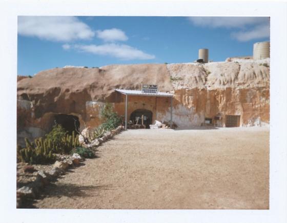 Polaroid at Riba's underground camping: Coober Pedy, South Australia
