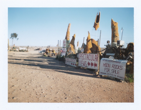 Polaroid of town look-out point: Coober Pedy, South Australia