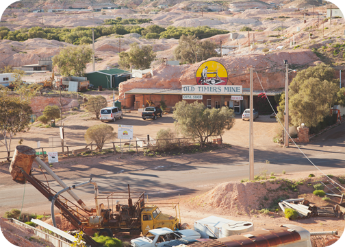 The town of Coober Pedy, South Australia