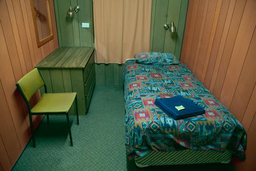 Inside a room at Spud's Roadhouse: Pimba, South Australia