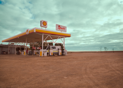 An Outback roadhouse: Pimba, South Australia