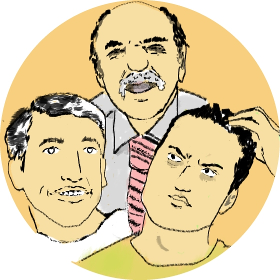 The three lamest guys to work with. Illustration by author