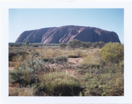 Polaroid of Uluru in the afternoon: Northern Territory, Australia