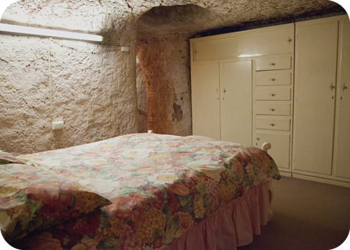 Air vent inside the guest bedroom of Faye's Underground House: Coober Pedy, South Australia