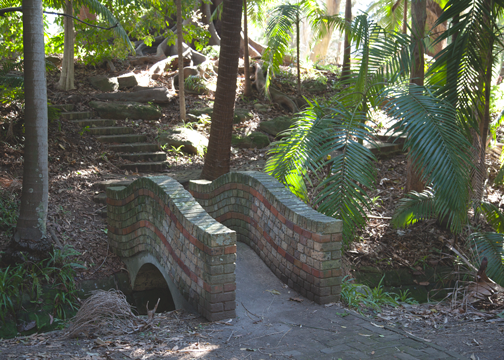 Garden path at the Callan Park Mental Hospital: Sydney, Australia