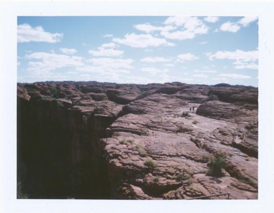 Polaroid of the King's Canyon rim: Northern Territory, Australia
