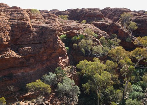 Rock formations at Kings Canyon: Northern Territory, Australia